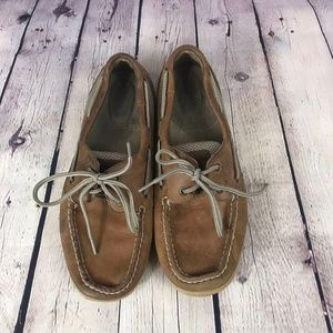 Sperry Top Sider Women's Tan Flat Shoes Size 8
